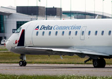Delta Connection Canadair CRJ Royalty Free Stock Photo