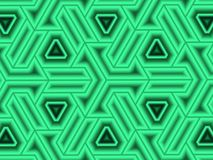 Delta cube construct. Bold horizontal evenly spaced cube lattice with attention grabbing highlights vector illustration