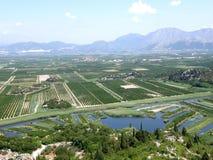 Delta de fleuve de Neretva Images libres de droits