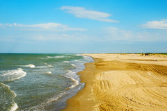 Delta de l'Ebre beaches, Spain stock photos