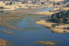 Delta de Okavango del cielo. Fotografía de archivo libre de regalías