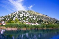 Delta de rivière de Neretva en Croatie Images stock