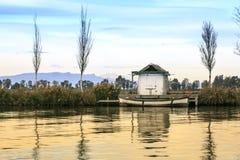 Delta del der Ebro, Tarragona Landschaft Flussmündung Stockfotografie
