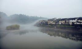 Villaggio antico nel sud del fiume Chang Jiang Immagine Stock