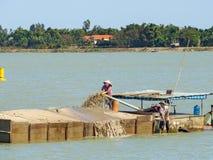 Delta del río Mekong en Vietnam: [Delta del río en no sólo sabido para su agricultura, industria de los pescados pero también par Foto de archivo libre de regalías
