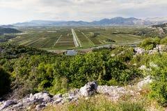 Delta del r?o de Neretva en Croatia imagenes de archivo