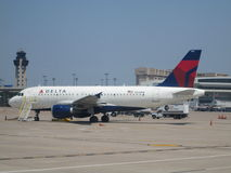Delta A319 at DFW Royalty Free Stock Photography