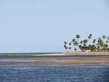 Delta di Bunharem del fiume - Porto Seguro Fotografia Stock