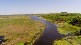 Delta di Danubio nel moto video d archivio