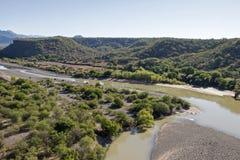 Delta do rio de Fuerte em Sinaloa imagem de stock