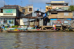 Delta du Mékong au Vietnam Images libres de droits