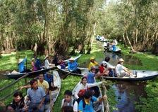 Delta du Mékong, forêt d'indigo de Tra Su, éco-tourisme images libres de droits