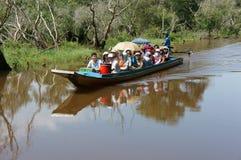 Delta du Mékong, forêt d'indigo de Tra Su, éco-tourisme image stock