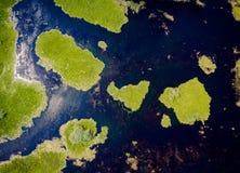 Delta Dunarii Romênia de cima da vista aérea imagens de stock