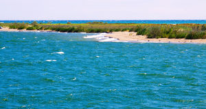 Delta of Ebro river in summer day. Catalonia Royalty Free Stock Photography