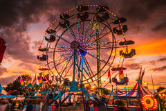 Delta Fair, Memphis, TN, Ferris Wheel at County Fair Royalty Free Stock Images
