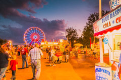 Delta Fair, Memphis, TN County Fair Midway royalty free stock photography