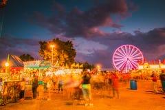 Delta Fair, Memphis, TN, Ferris Wheel at County Fair royalty free stock image
