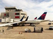 Delta Gate Area at Hartsfield–Jackson Atlanta International Airport Royalty Free Stock Photo