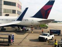Delta Gate Area at Hartsfield–Jackson Atlanta International Airport Royalty Free Stock Image