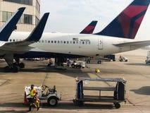 Delta Gate Area at Hartsfield–Jackson Atlanta International Airport Royalty Free Stock Photography