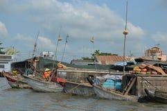 Delta het Drijven van Vietnam - Mekong Markt royalty-vrije stock afbeelding