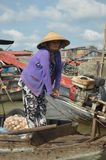 Delta het Drijven van Vietnam - Mekong Markt Cai Rang royalty-vrije stock fotografie