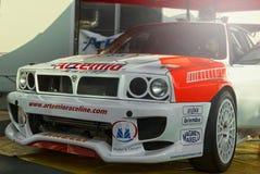 Delta Integrale du Saint-Marin le 21 octobre 2017 - Lancia au rassemblement la légende Photographie stock libre de droits