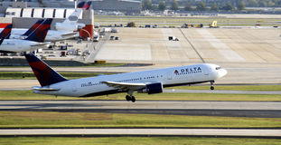 Delta jet taking off Stock Photos