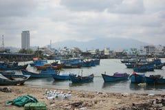 Delta Kai rzeka w Wietnam Nha Trang mieście Obrazy Stock