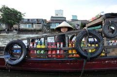 delta mekong vietnam Royaltyfria Bilder