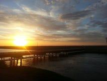 Delta Mendota-Kanal Stockbild