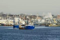 Delta ocidental das embarcações de pesca e azul azul Foto de Stock Royalty Free