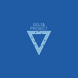 Delta project design. Blue color logo with background Royalty Free Stock Photo