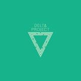 Delta projekta projekt Zielonego koloru logo z tłem Fotografia Royalty Free