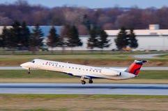 Delta que aterriza Foto de archivo