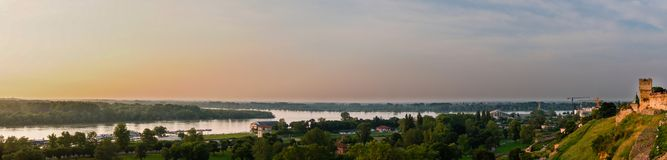 Delta of the river Danube near Belgrade stock image