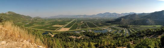 Delta of river Neretva in Croatia Stock Photo