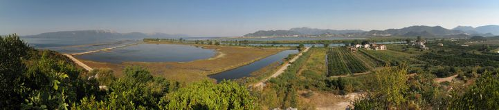 Delta of river Neretva in Croatia Royalty Free Stock Photography