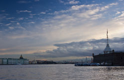 The Delta of the river Neva, Peter and Paul fortress, St. Petersburg ,Russia Stock Photo