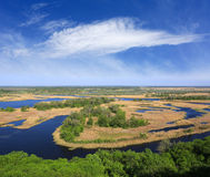 Delta river in nice day Stock Photography