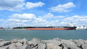 Delta tanker in Klaipeda port, Lithuania Royalty Free Stock Photos