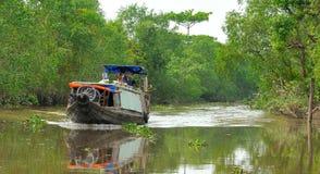 Delta Vietnams, der Mekong Stockbild
