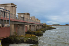 Delta Works Sluice at Afsluitdijk, Storm Flood Protection Royalty Free Stock Photos