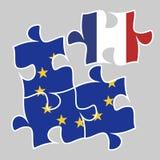 Deltagande av Frankrike i euro-ekonomin Arkivbild