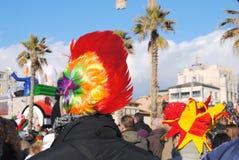 Deltagare av karnevalet av Viareggio Royaltyfria Bilder