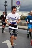 Deltagare av maraton för Moskva 6 arkivbilder