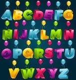 deltagare för födelsedag för alfabet 3d lycklig Royaltyfria Bilder