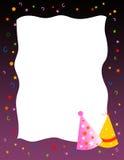 deltagare för födelsedaghälsningsinbjudan royaltyfri illustrationer