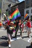 Deltagare för LGBT Pride Parade i New York City Arkivfoto